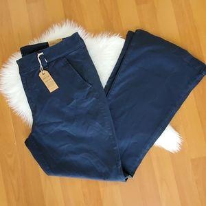 American Eagle navy boho Artist low rise pants 14